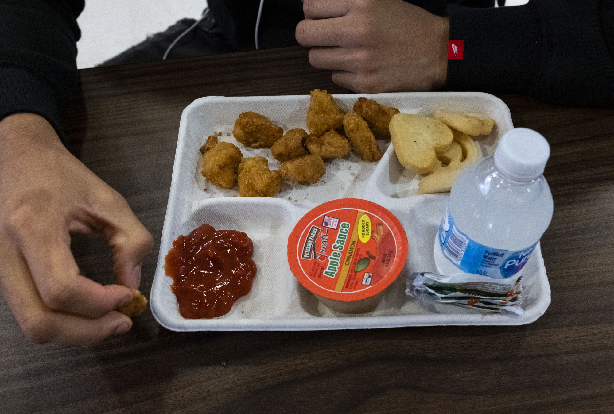 A court recently rejected the Trump administration's efforts to roll back nutritional standards for school lunches, like this one served at a high school in Oxon Hill, Maryland.