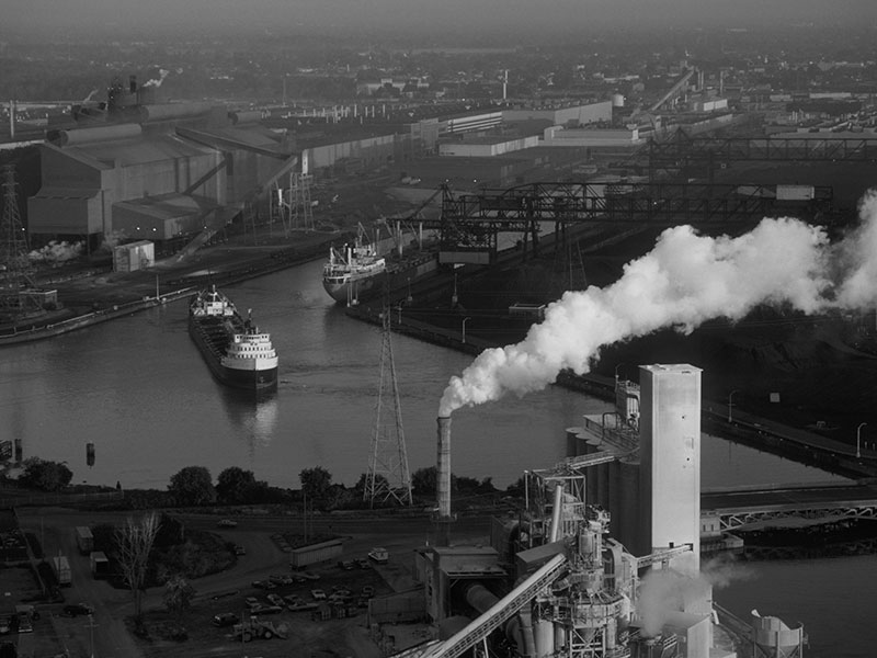 Heavy industry of River Rouge.