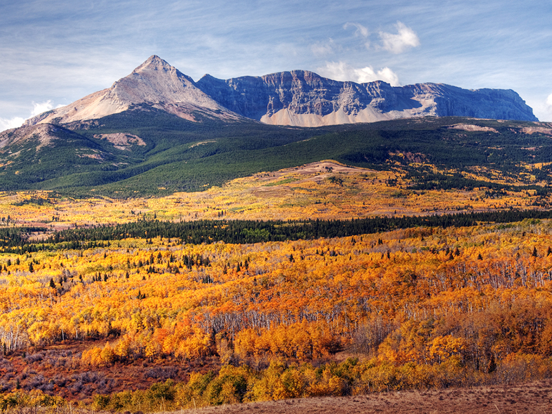 Glacier National Park in autumn