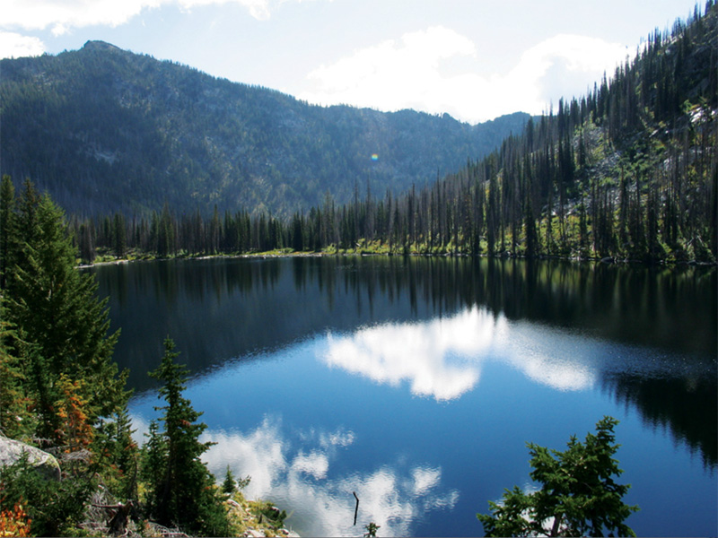 Hum Lake in the Secesh Roadless Area in Idaho's Payette National Forest.