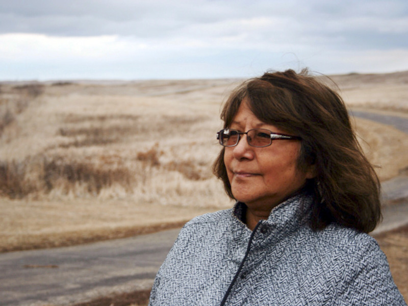 Joletta Bird Bear is a member of the Fort Berthold Protectors of Water and Earth Rights.