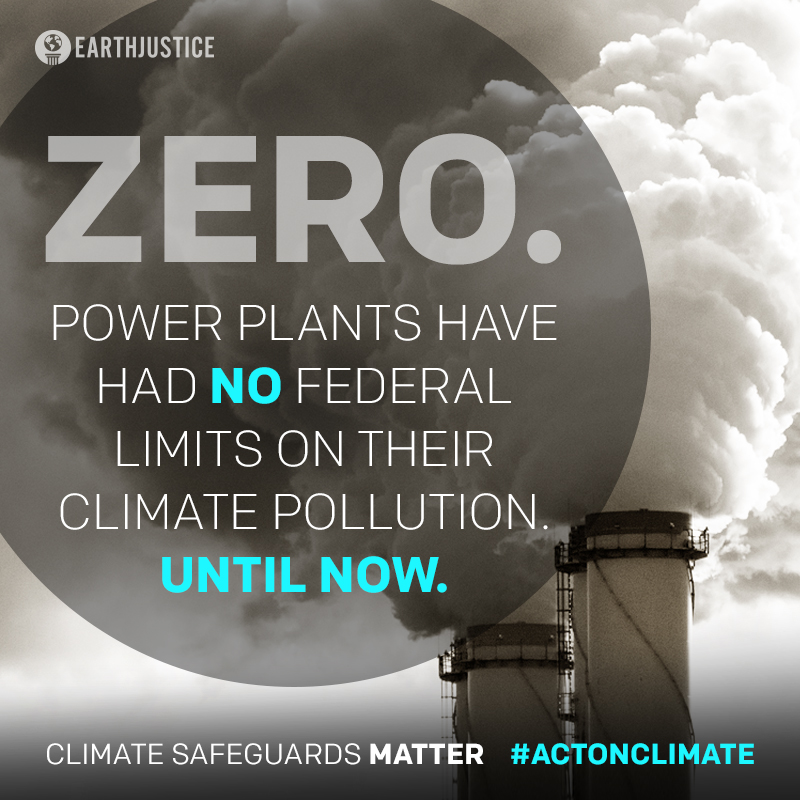 Zero. Power plants have had no federal limits on their climate pollution. Until now.