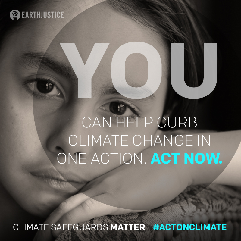 You can help curb climate change in one action. Act now.