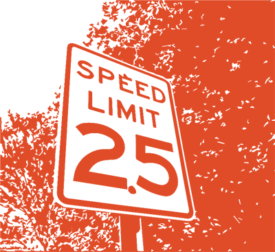 Speed limit sign.