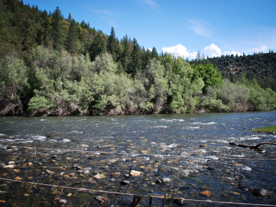 The mainstem of the Klamath River. The Klamath flows through Oregon and northern California.