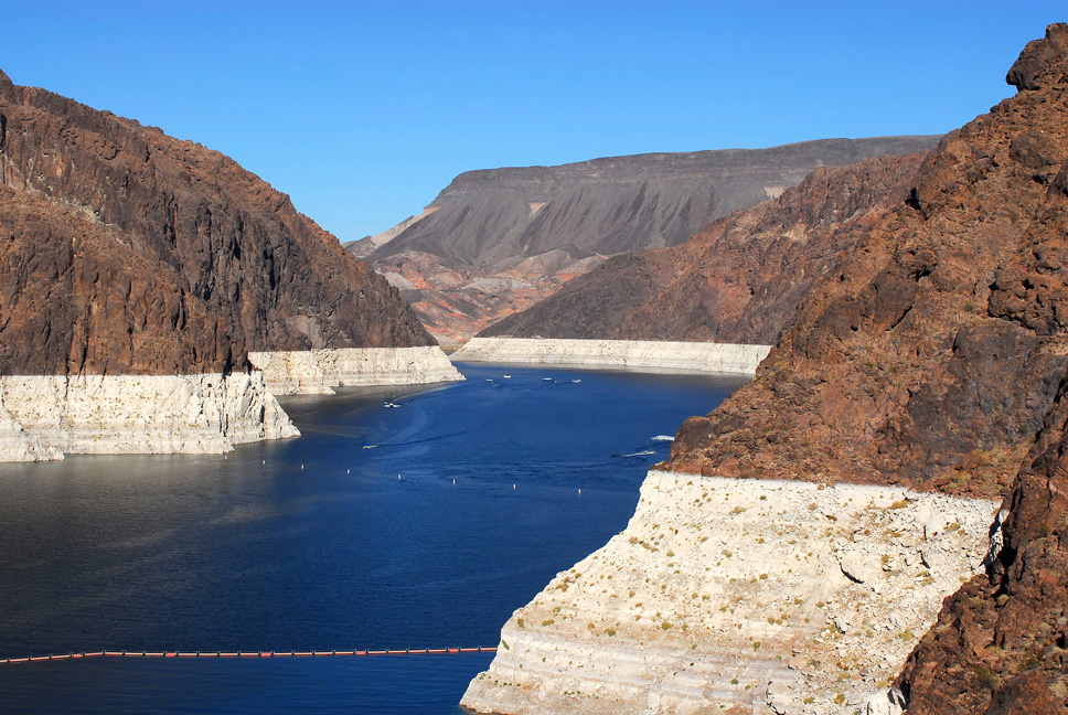 Low water levels at Lake Mead
