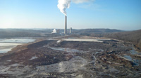 One billion gallons of toxic coal ash spilled from the TVA Kingston Fossil Fuel Plant along Tennessee's Emory River. (TVA)