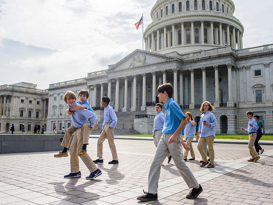 The <i>Hyperbolics</i> outside the Capitol Building
