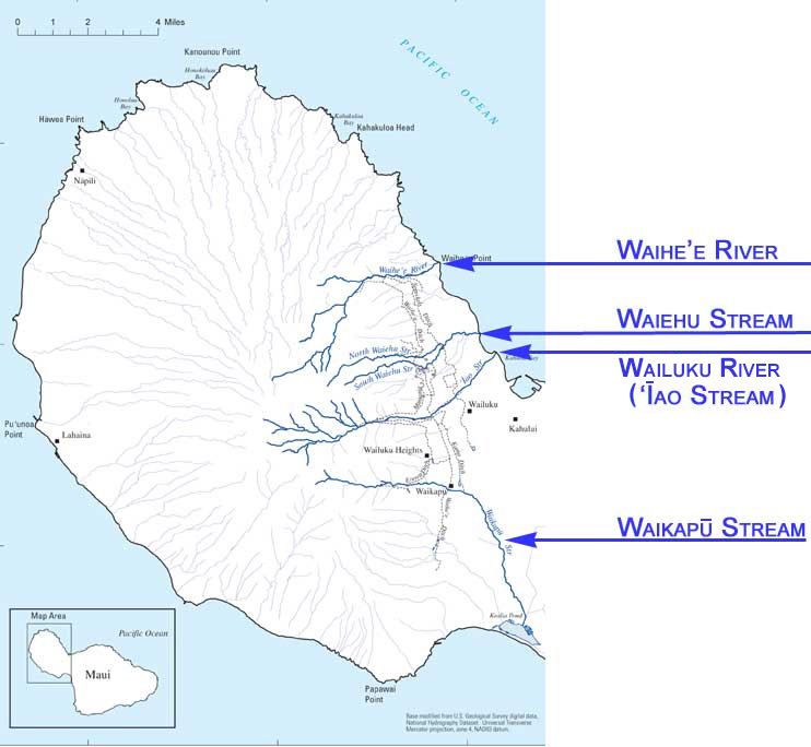 Turning the Tide of History: Maui Waters Flow Again After ... Wailuku Map