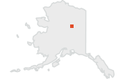 Location map of Fairbanks, Alaska.