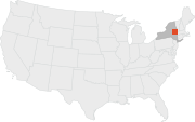 Location of Albany, New York.