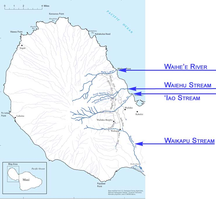 Map of The Four Great Waters.
