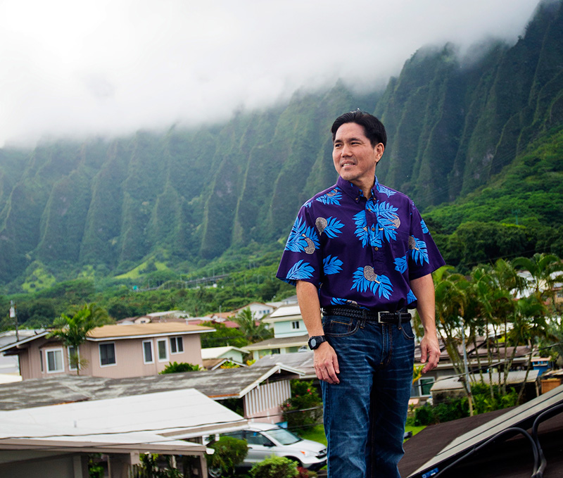 Attorney Isaac Moriwake on the island of Oahu.