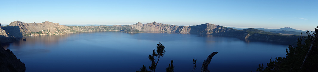 Panoramic view of Crater Lake.