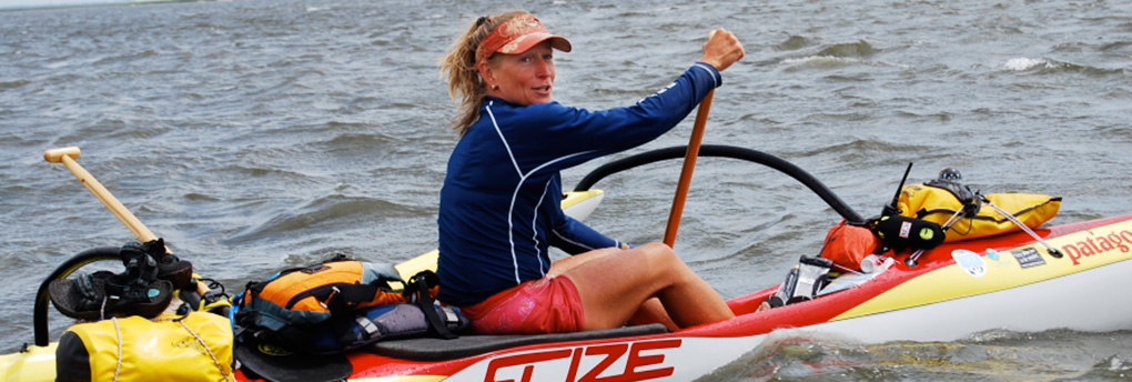Margo Pellegrino, in her kayak. (Photo courtesy of Margo Pellegrino)