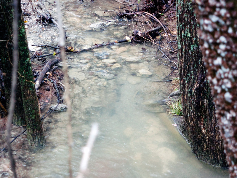 Runoff from the ash (bottom) has been shown to contain high levels of arsenic.
