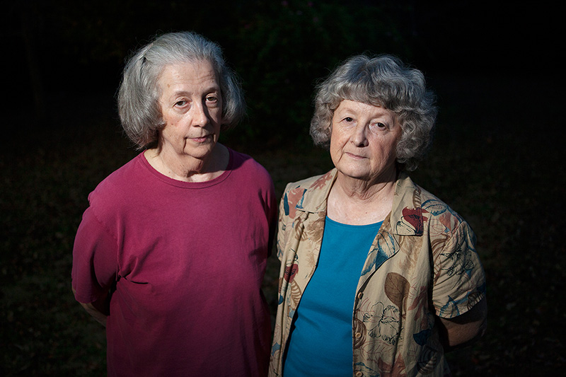 Sisters and long-time Uniontown residents Ellis B. Long and Mary Leila Schaeffer.