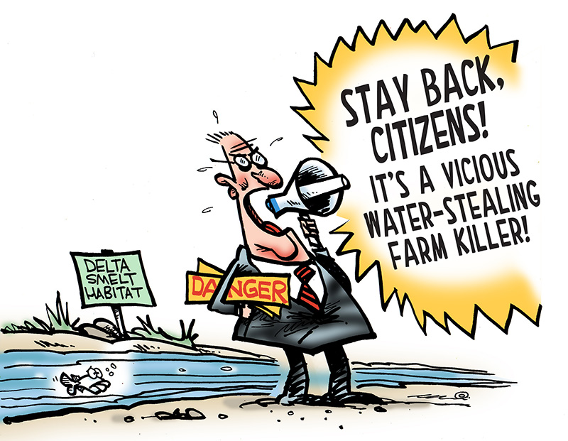 See the cartoon: Blame The Drought on The Fish.