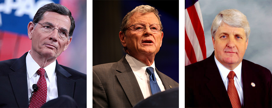 Sen. John Barrasso (R-WY.), Sen. James Inhofe (R-OK), and Rep. Rob Bishop (R-UT) have received hundreds of thousands of dollars in campaign contributions from the oil and gas industries.