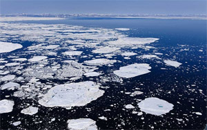 Scientists say ice loss may be altering weather patterns. Newly open waters, free of sea ice, capture more solar radiation rather than reflecting it from the white ice. (Florian Schulz / visionsofthewild.com)