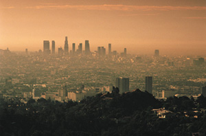 Smoggy Los Angeles. (EPA)