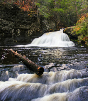 Hackers Falls, Raymondskill Creek, Pike County, within the Delaware Water Gap National Recreation Area. (Nicholas A. Tonelli)