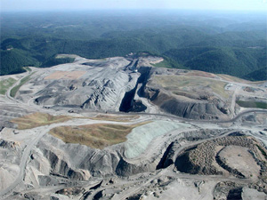 Mountaintop removal mining devastates the landscape, turning areas that should be lush with forests and wildlife into barren moonscapes. (OVEC)