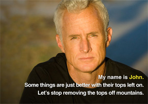 John Slattery participates in the Mountain Heroes campaign.