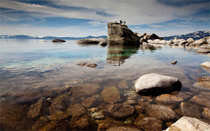 Lake Tahoe is the largest alpine lake in North America. The beauty of its cobalt blue waters and pristine clarity has inspired visitors since the time of Mark Twain. (Geoff Stearns / Flickr)