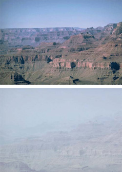 Haze in Grand Canyon National Park. (EPA)
