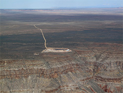 Uranium mine at the edge of the Grand Canyon. (Ecoflight)