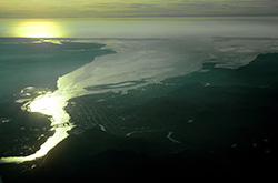 Aerial view of Grays Harbor. (Quinault Indian Nation)