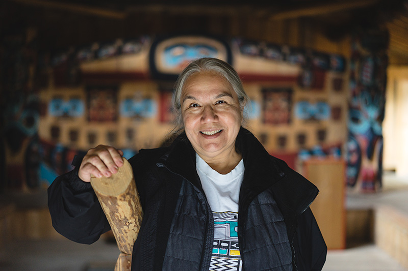 Loni Hotch, Chilkat Clan House Klukwan.