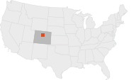 Location map of Denver.
