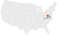 Location map of Shenandoah Valley