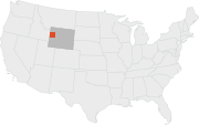 Location of the Grand Teton National Park.