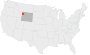 Location map of Yellowstone National Park.