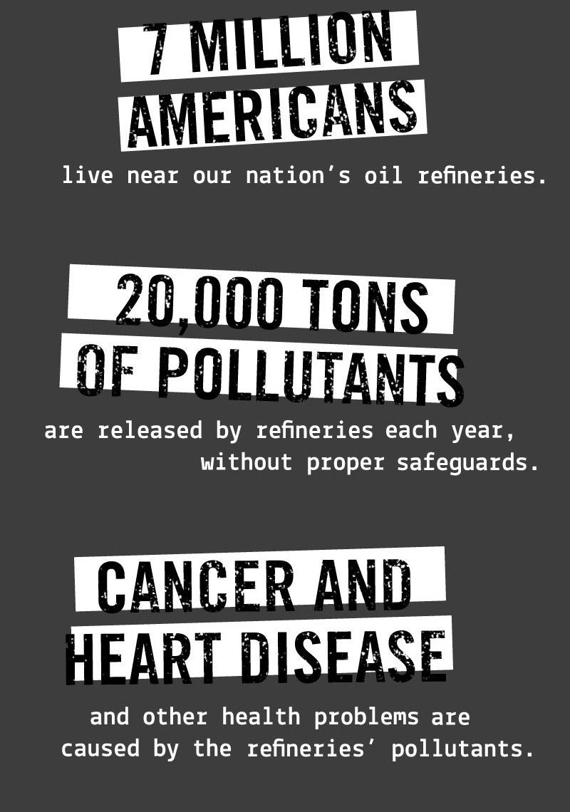 7 million Americans live near our nation's oil refineries.