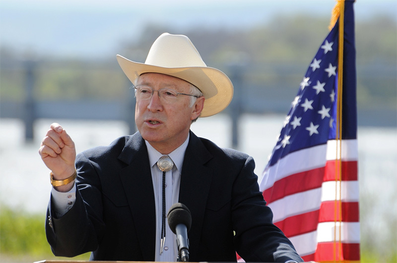 Secretary of the Interior Ken Salazar.