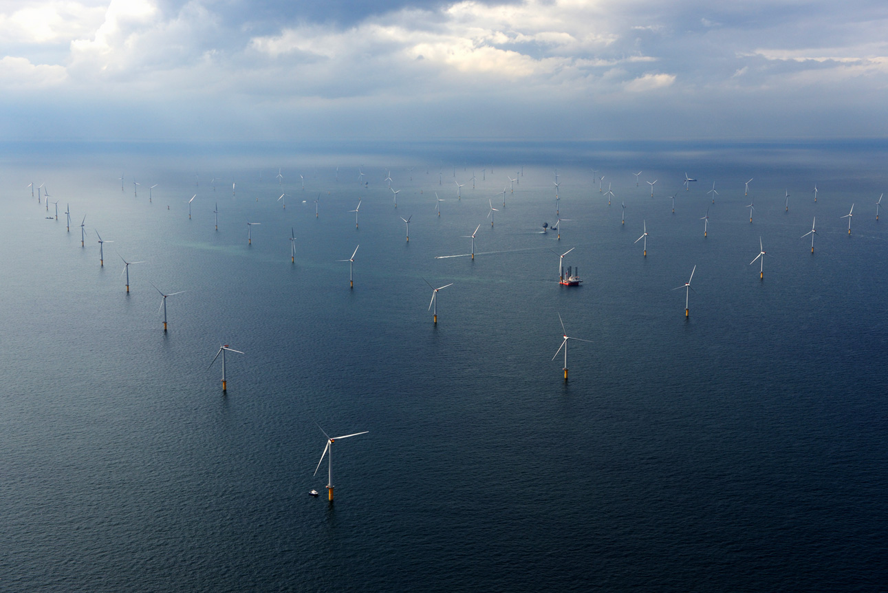 Sheringham Shoal Offshore Wind Farm off the coast of the United Kingdom.