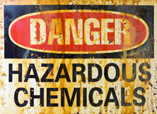 Hazardous materials sign.
