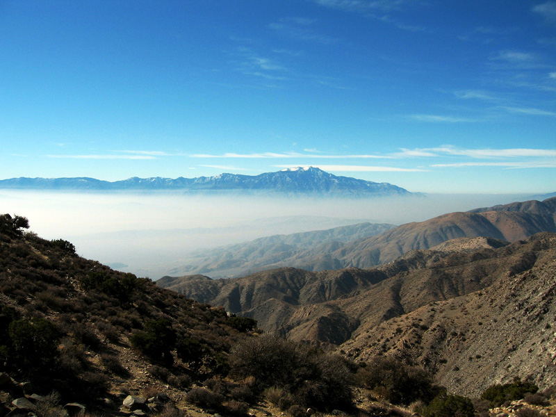 Air pollution viewed from Joshua Tree National Park.