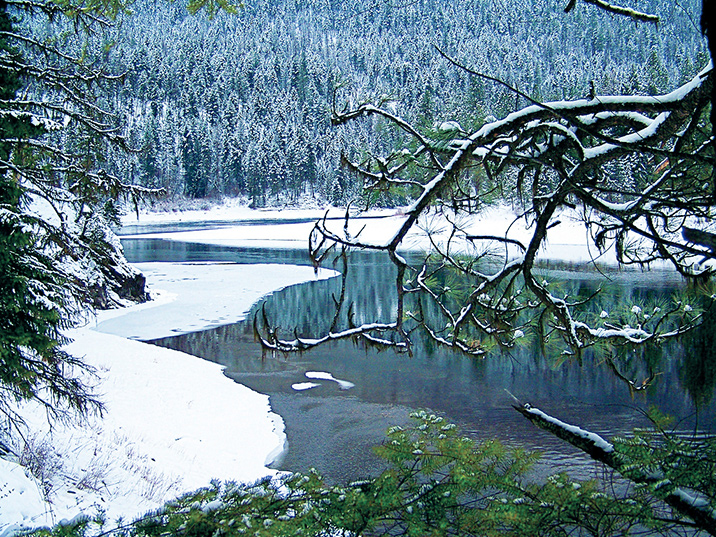 Winter comes to the South Siegel Roadless Area in Montana's Coeur D'Alene Mountains.
