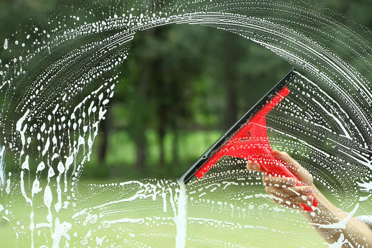 Keeping your windows clean probably does not require a special squeegee.
