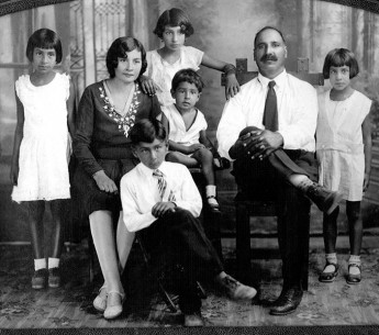 Ernestina and Bishan Singh's family, photographed in 1932.