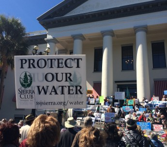 Clean water rally Florida