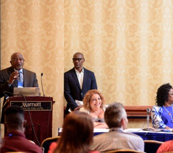 """Race trumps class,"" said Dr. Bob Bullard, a distinguished professor at Texas Southern University. He spoke at a panel on environmental justice sponsored by Earthjustice at the joint National Association of Black Journalists - National Association of Hisp"