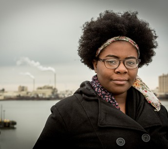 Destiny Watford, above, organized a movement opposing the nation's largest trash-burning incinerator slated for her neighborhood in Baltimore, Maryland.