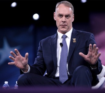 Ryan Zinke, now the Secretary of the Interior, speaks at the 2016 Conservative Political Action Conference in National Harbor, Maryland