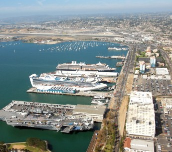 Aerial view of the Port of San Diego
